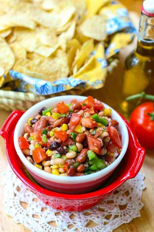 This Easy Texas Caviar Recipe is colorful, healthy, and full of flavor. Grab some chips or eat it straight out of the bowl. You are going to love this delicious salsa dip!