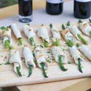 Asparagus and Blue Cheese Rollups Recipe