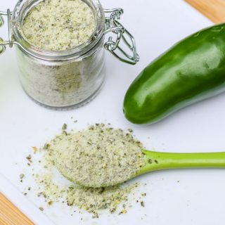Jalapeño Salt is incredible on everything from salads, vegetables, baked potatoes, meat, pasta, and popcorn!! This Homemade Jalapeño Salt Recipe is easy to make. If you love jalapeño, you will LOVE this jalapeño salt!
