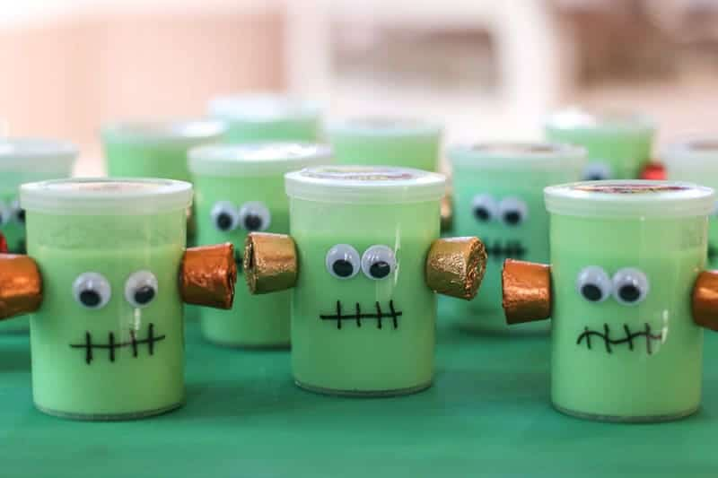 Halloween Frankenstein party favor grouping
