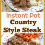 This is a step-by-step recipe on how to make delicious Instant Pot Country Style Steak. Country Style Steak is a favorite meal in many homes in the South. It is made with lightly battered cube steak that is cooked in a brown gravy and onions until tender.