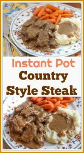 This is a step-by-step recipe on how to make deliciousInstant Pot Country Style Steak.Country Style Steak is a favorite meal in many homes in the South. It is made with lightly battered cube steak that is cooked in a brown gravy and onions until tender.