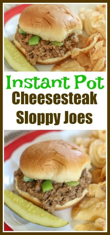 This #InstantPot #Cheesesteak #SloppyJoes Recipe is fast and delicious. This Instant Pot Recipe makes the perfect meal for the busy weeknights that your whole family will enjoy.