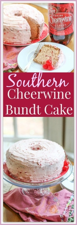 This  Southern Cheerwine Bundt Cake Recipe is incredible. This moist, dense cake forms a thick, sugary, crunchy crust. It is frosted with the most amazing white chocolate cherry frosting. Once you have a slice, this will be your new favorite cake!