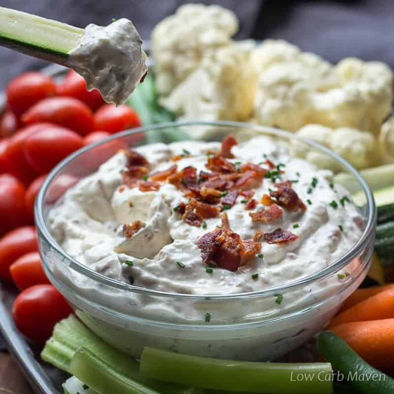 Creamy Bacon Horseradish Dip from Low Carb Maven