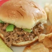 ThisInstant Pot Cheesesteak Sloppy Joes Recipe is fast and delicious. This Instant Pot Recipe makes the perfect meal for the busy weeknights that your whole family will enjoy.