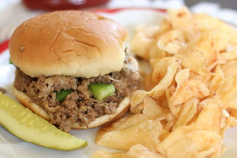 This Instant Pot Cheesesteak Sloppy Joes Recipe is fast and delicious. This Instant Pot Recipe makes the perfect meal for the busy weeknights that your whole family will enjoy.
