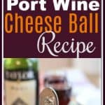 This swanky retro Port Wine #CheeseBall recipe was featured in City View Magazine. It has a sneaky heat balanced with the sweet #portwine. Spread the cheese on crackers or apple slices for a fun party #appetizer.