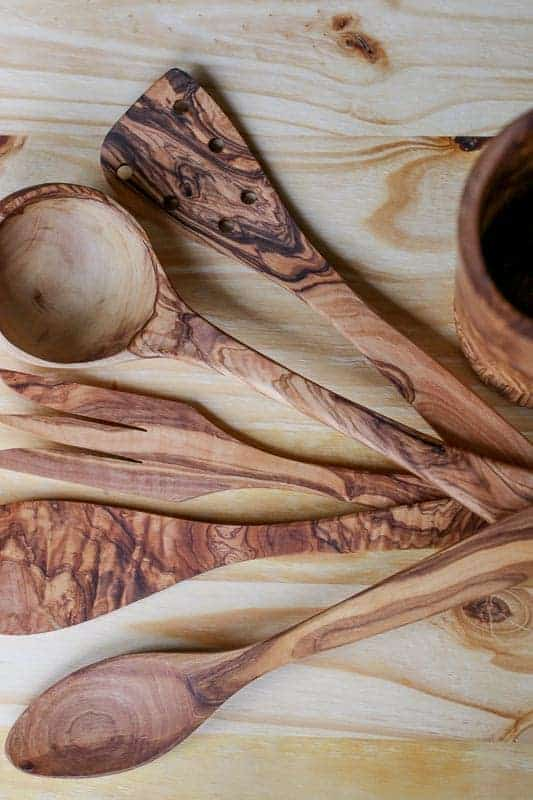 Handcrafted Olive Wood Utensil Set from Beldinest