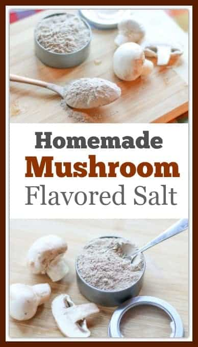 Making this #mushroomsalt is simple, easy, and delicious. With only 3 ingredients, you can make your own batch. It is a great salt for gifts or to have on hand in your kitchen.