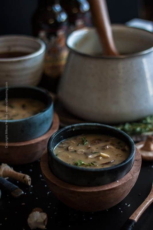 Creamy Triple Mushroom Beer Soup from Craft Beering