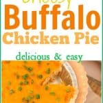Flavors of traditional buffalo chicken are combined with ranch and cheese in a flaky crust to create a scrumptious buffalo ranch chicken pie. Make it for an easy entree or appetizer. #buffaloranchchicken #Chickenpotpie
