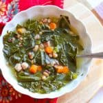 Instant Pot Black Eyed Pea and Collard Green Soup with Smoked Ham