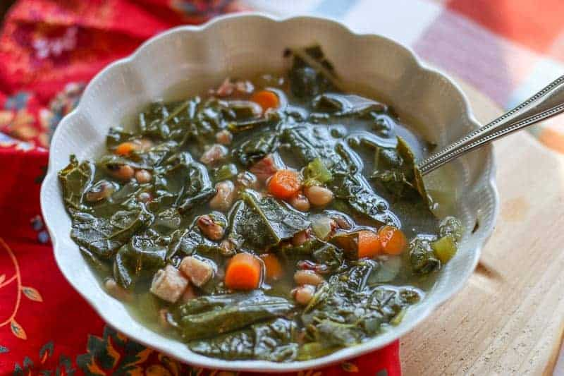 Black Eyed Pea and Collard Green Soup