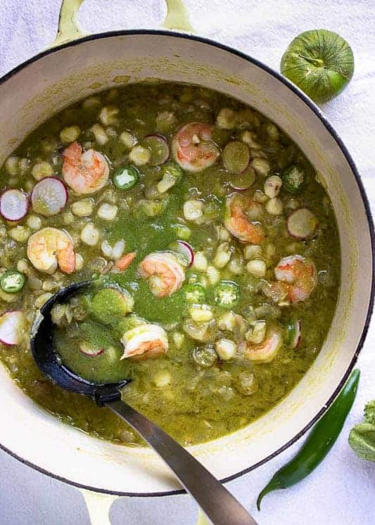 Shrimp Posole Verde from Kevin is Cooking
