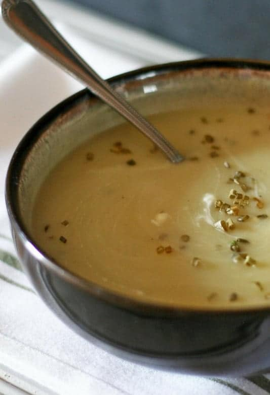 Low Fat Potato Leek Soup from Every Day Eileen
