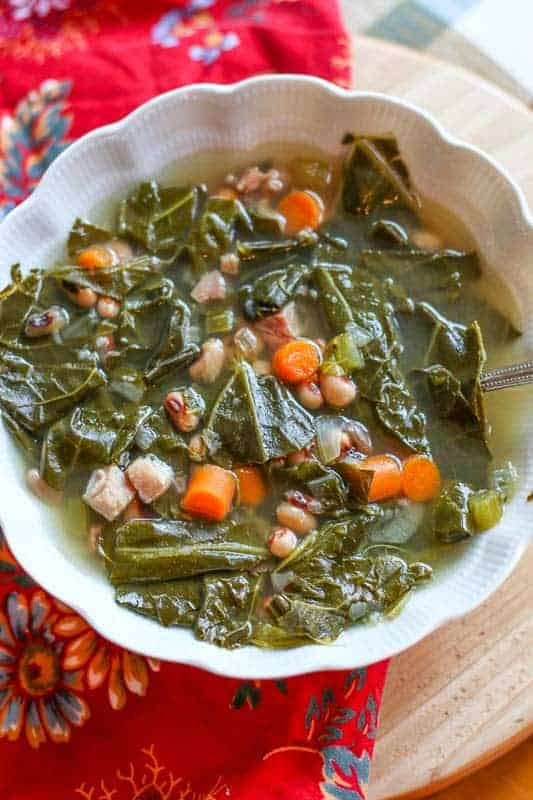 pressure cooker Black Eyed Pea and Collard Green Soup