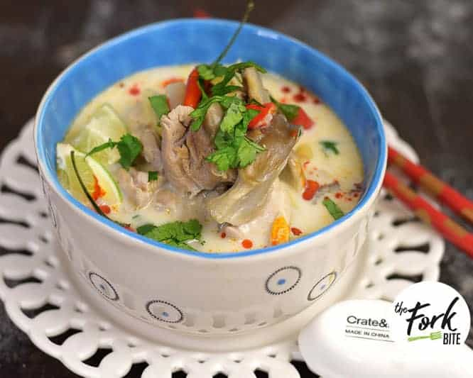 Tom Kha Gai Soup from The Fork Bite