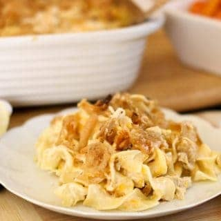 French Onion Chicken Noodle Casserole Recipe- Delicious Southern Food