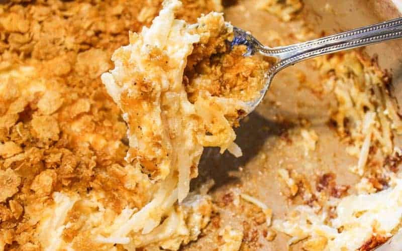 Brown Casserole with cornflakes