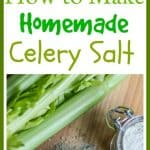 Learn how to make celery salt from scratch. Homemade celery salt is so much more flavorful and tasty than the store bought version. Use it to spice up dishes, flavor vegetables, or season a Bloody Mary! Yum!