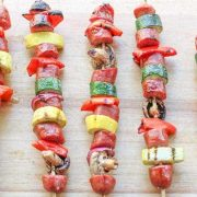 Grilled Kabobs: Grilled Vegetables & Brat Kabobs