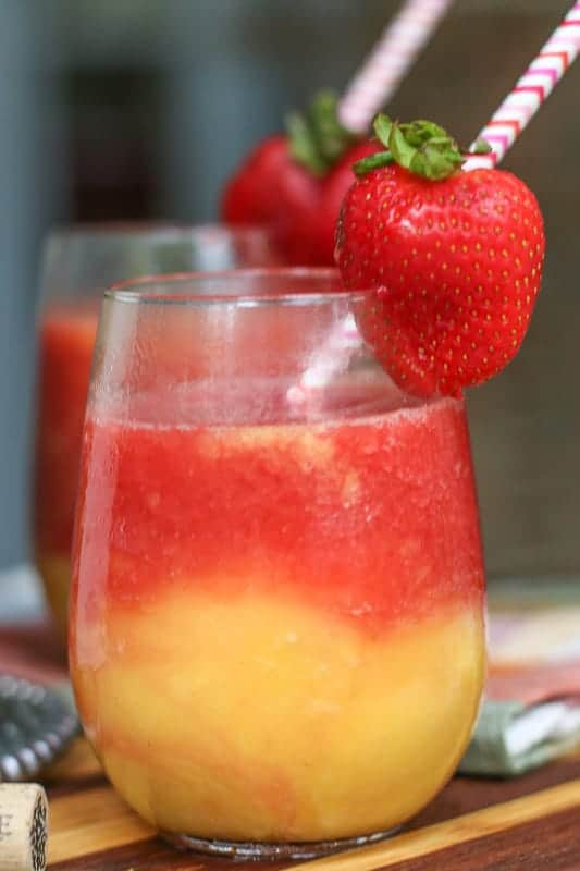 Wine Slushy-Blender Strawberry and Mango Wine Slushy Recipe