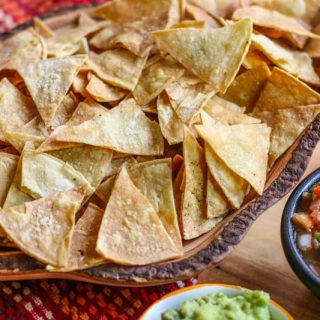 Baked Tortilla Chips-Homemade healthy tortilla chips