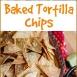 Making homemade #bakedtortillachips is easy. With just three ingredients, you can have crispy, crunchy, salty, #healthy tortilla chips that taste even better than the restaurant chips!