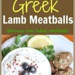 These oven baked #Greek #lambmeatballs are incredibly flavorful. The feta and Panko bread crumbs make these #meatballs juicy and tender. They are delicious by themselves for an entree or add them to a pita for a tasty sandwich. Their bite size shape also makes them a perfect appetizer for entertaining.