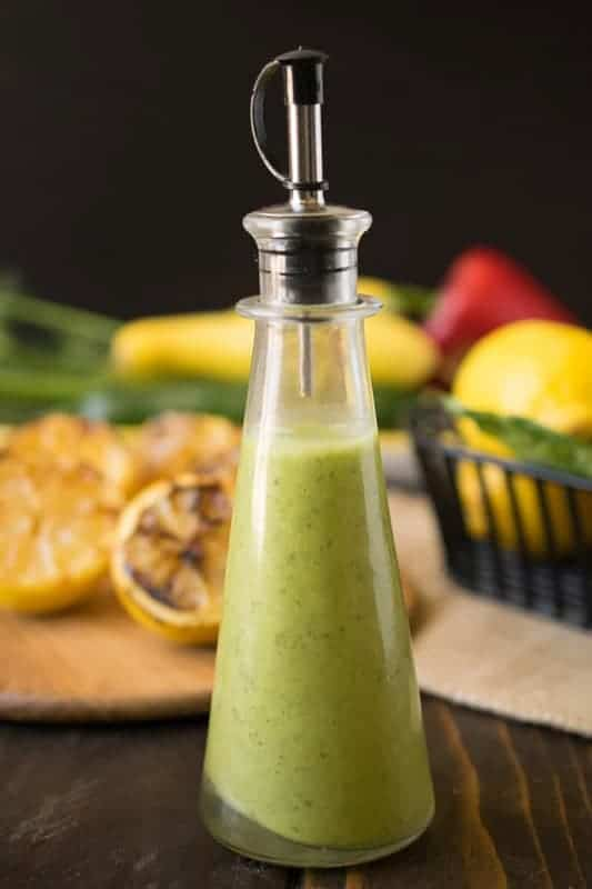Grilled Lemon and Basil Vinaigrette by Culinary Ginger