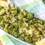 Oven Roasted Broccoli-Topped with Parmesan