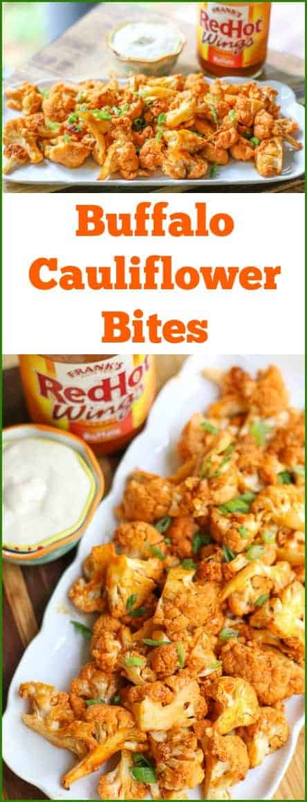 Do you love hot and spicy buffalo wings? Then these Buffalo #Cauliflower Bites are going to be your next favorite dish!These burn your mouth a bit bites are banging with flavor.