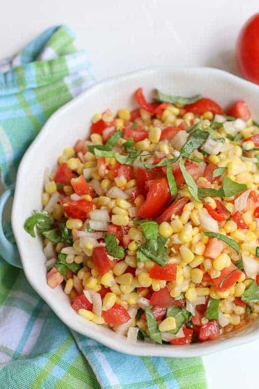 Simple Garden Fresh Corn & Tomato Salad