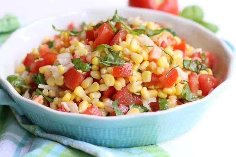 Summer Corn Salad-Simple Garden Fresh Corn & Tomato Salad