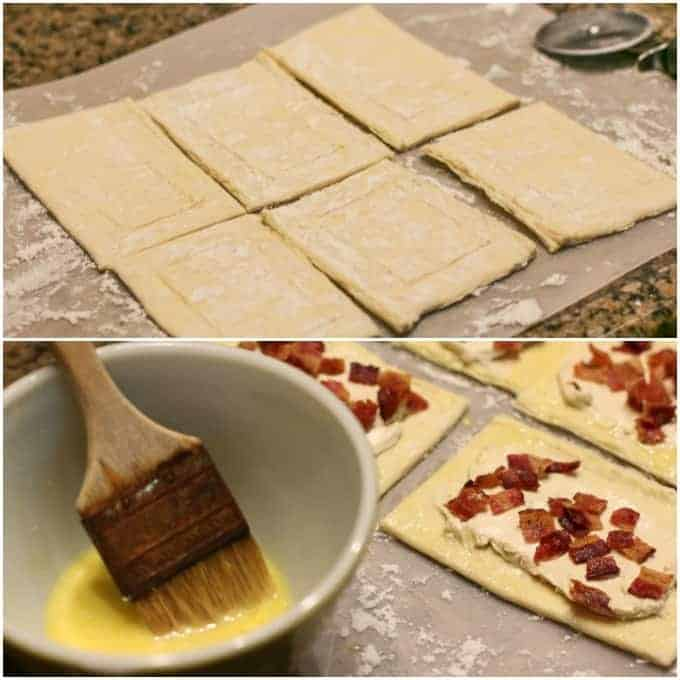 how to make maple glazed bacon and cream cheese danish