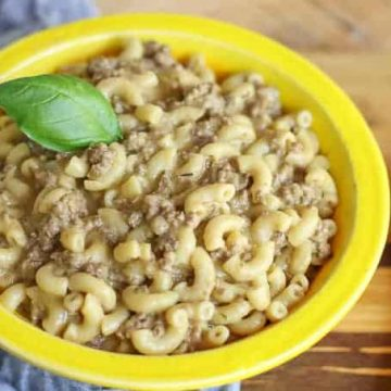 Instant Pot Homemade Hamburger Helper Cheeseburger Macaroni