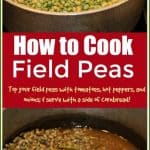 #FieldPeas are as classic of an icon to the southern table as Sweet Tea, Fried Chicken, and Cornbread. Here is #howtocookfieldpeas.