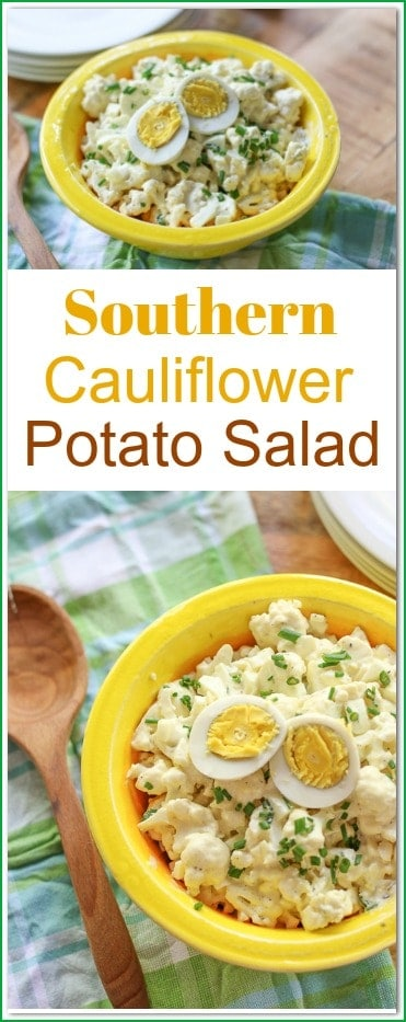 If you love #potatosalad, then you will love this Southern #CauliflowerPotatoSalad. It has all your favorite flavors as the traditional version with #lowcarb.