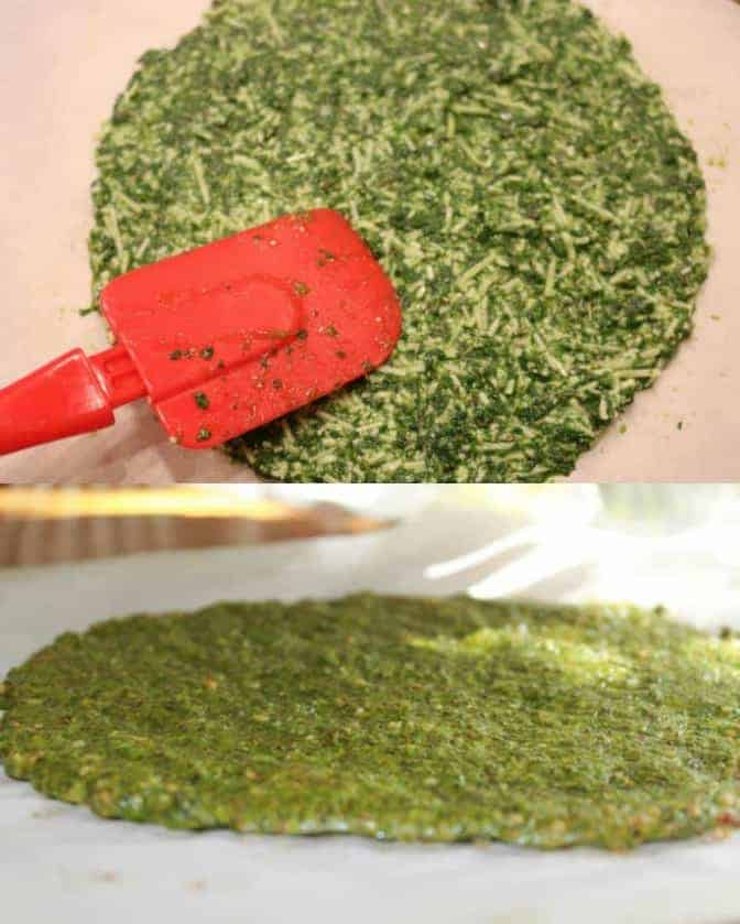 step by step image on how to make low carb pizza crust