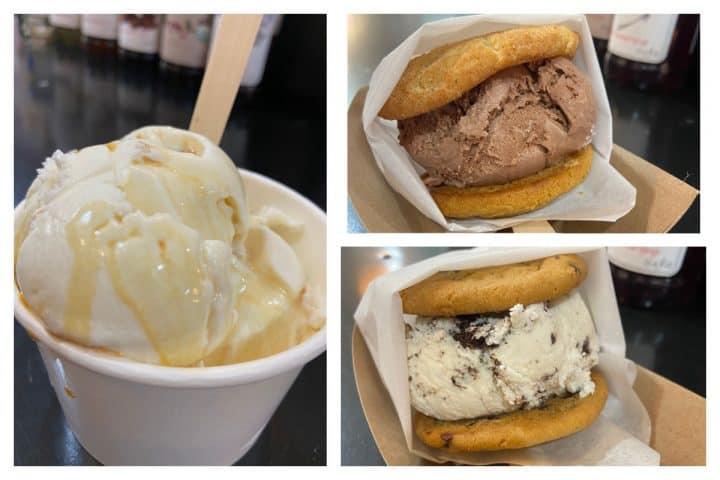 Blue Deer ice cream and ice cream sandwhches