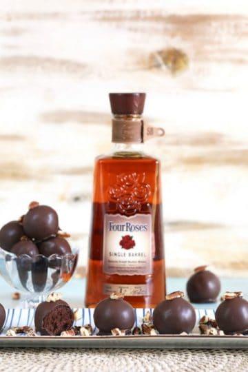 Bourbon Dark Chocolate Truffles by The Suburban Soapbox