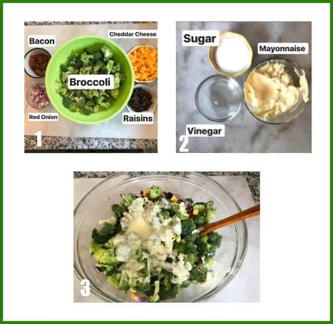 Broccoli Bacon Salad Process image