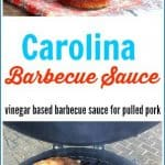 This is an amazing Carolina Barbecue Sauce Recipe is a Southern vinegar based barbecue sauce made for Pulled Pork Barbecue. #bbqsauce #vinegarbbqsauce