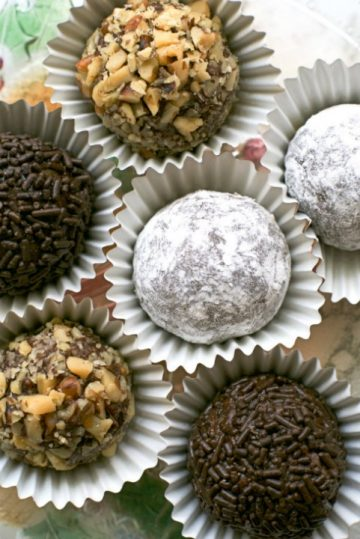 Chocolate Rum Balls by The Two Bite Club