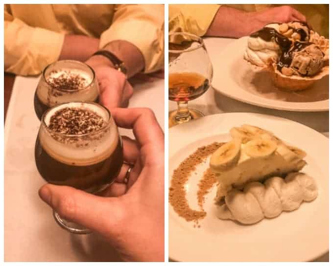 Cappuccino, Banana Cheese Pie and the Macadamia Nut Sundae