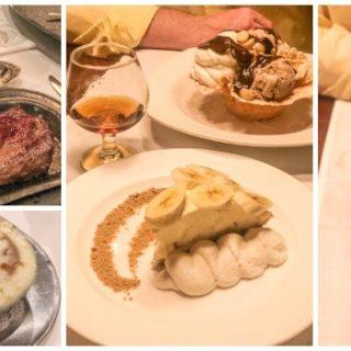 Dinner at Bern's Steak House