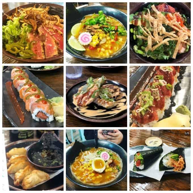 Sushi, poke, and ramen bowls from Gohan Bistro