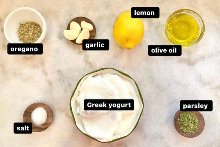 Greek chicken marinade with yogurt ingredients