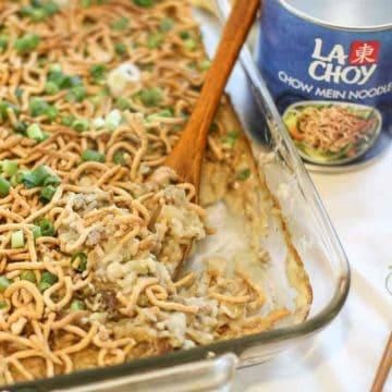 Ground Beef Chow Mein casserole